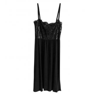 Gucci Black Metallic-Lace & Crepe Dress