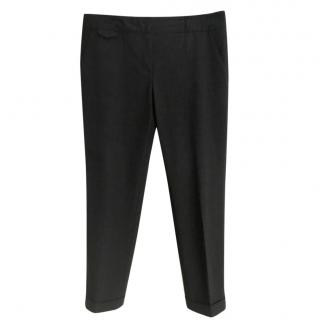 Gerard Darel dark-grey tapered stretch-wool trousers