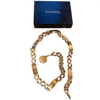 Chanel gold-tone logo chain belt