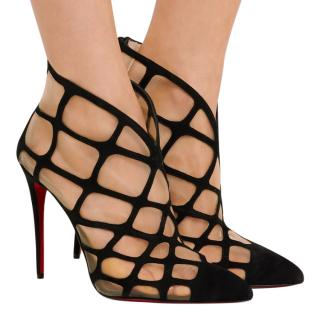 Christian Louboutin lattice-effect suede ankle boots