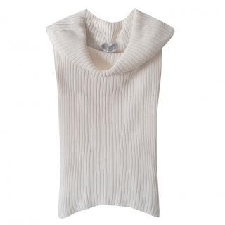 MaxMara cold shoulder sleevelss sweater