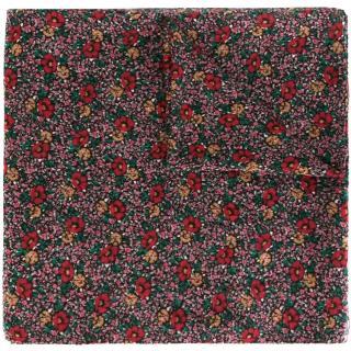 Saint Laurent floral-print large wool scarf