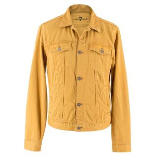 7 For All Mankind Mustard Yellow Denim Jacket