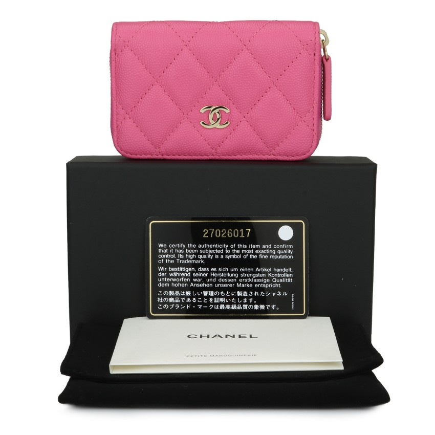 3df7aa65fc05 Chanel Classic Pink Caviar Coin Purse | HEWI London