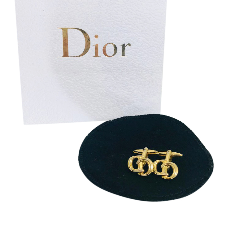 Christian Dior Gold-Plated Cufflinks