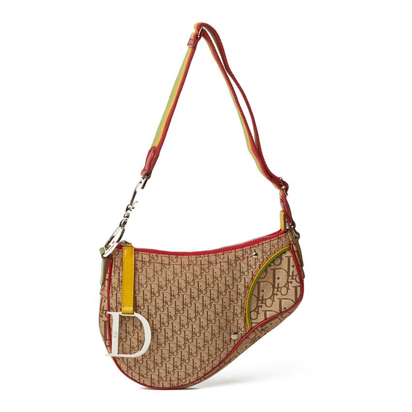 9e0eb14f9b Christian Dior Brown Monogram Canvas Rasta Saddle Bag 2