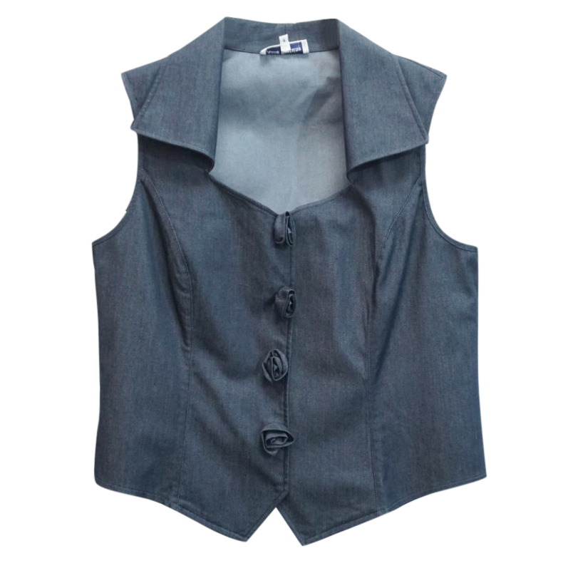 Anne Fontaine Aura Sleeveless Denim Shirt