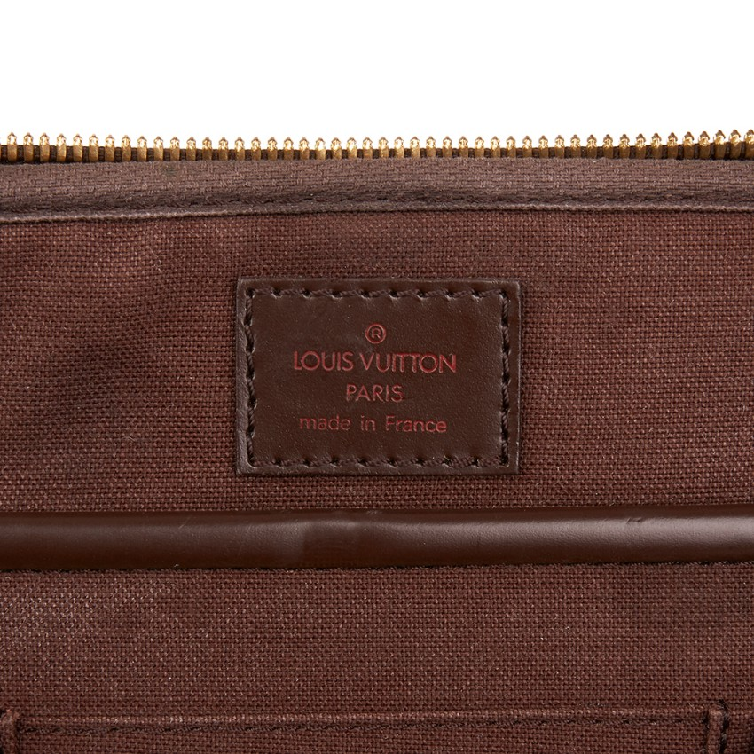 Louis Vuitton Brown Coated-Canvas Sabana Computer Case. 30. 12345678910 27ff6ed490dd9