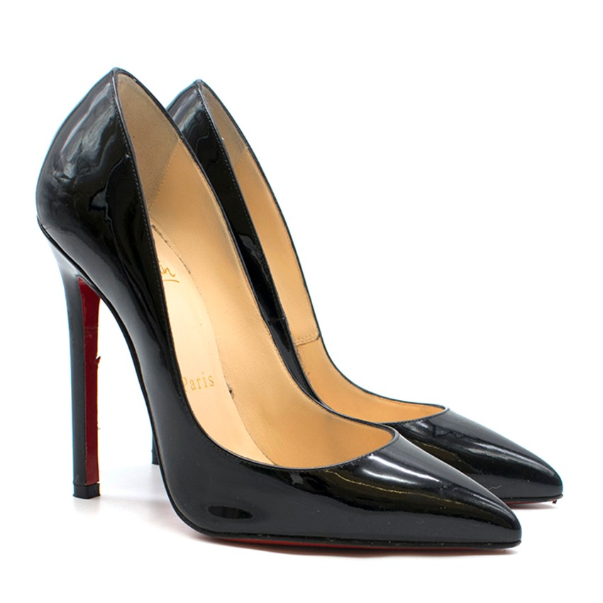 low priced 34699 76ab2 Christian Louboutin Pigalle Follies Black 100mm Pumps