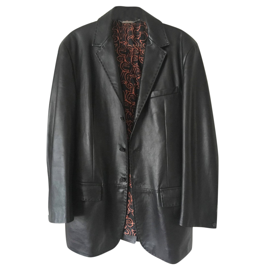 Versace Classic Black Soft Leather Jacket