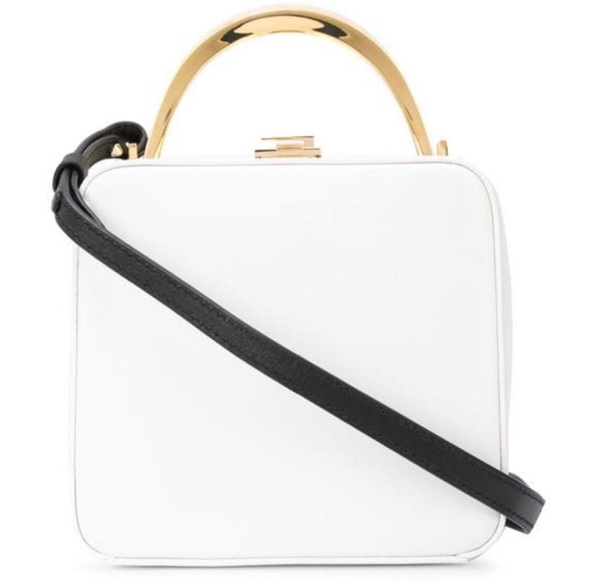 The Volon white cube M.C. leather bag