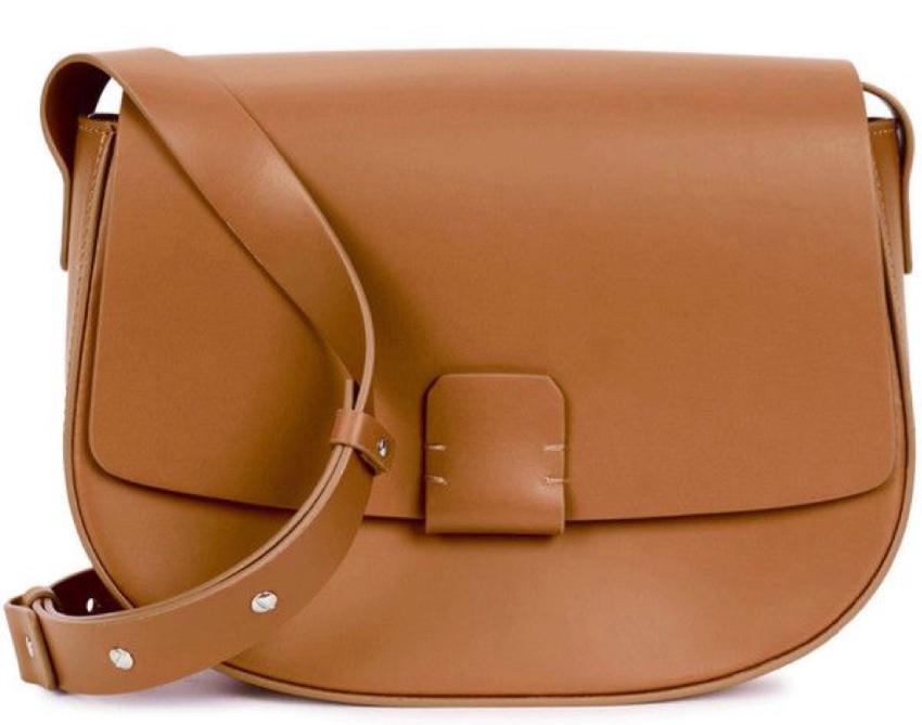 Nico Giani Lobivia fawn/tan leather saddle bag