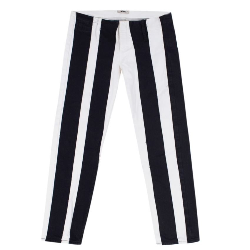 Acne Studios Black and white striped jeans