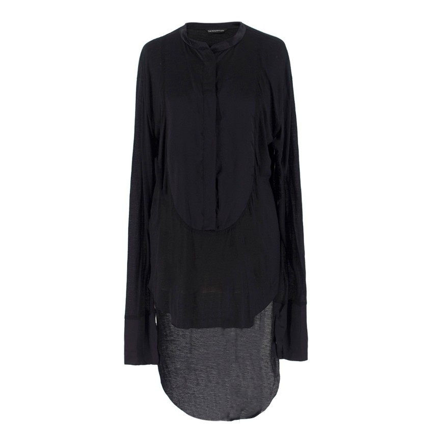 Thomas Wylde Black Step-Hem Shirt