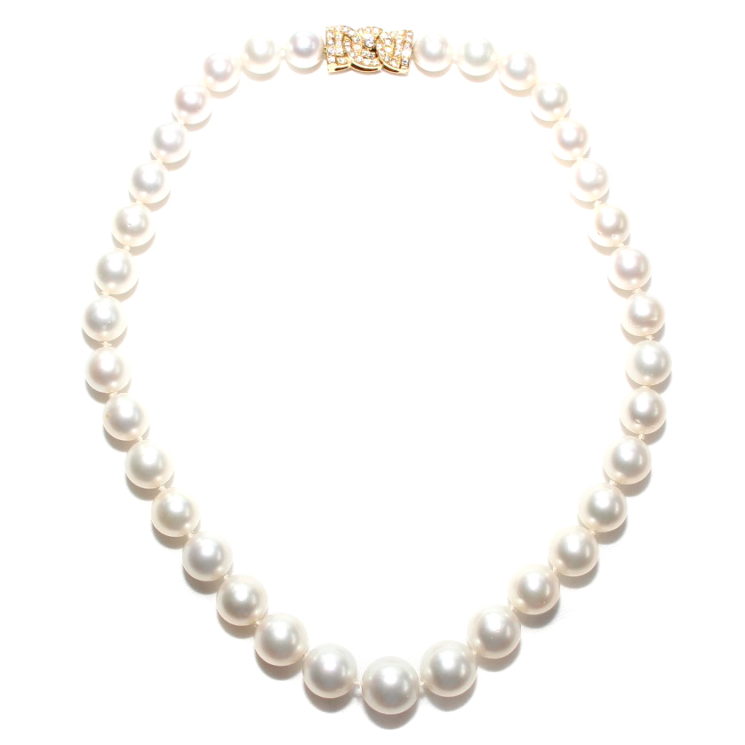 Garrard South Sea Pearl & Diamond 18ct Gold Necklace