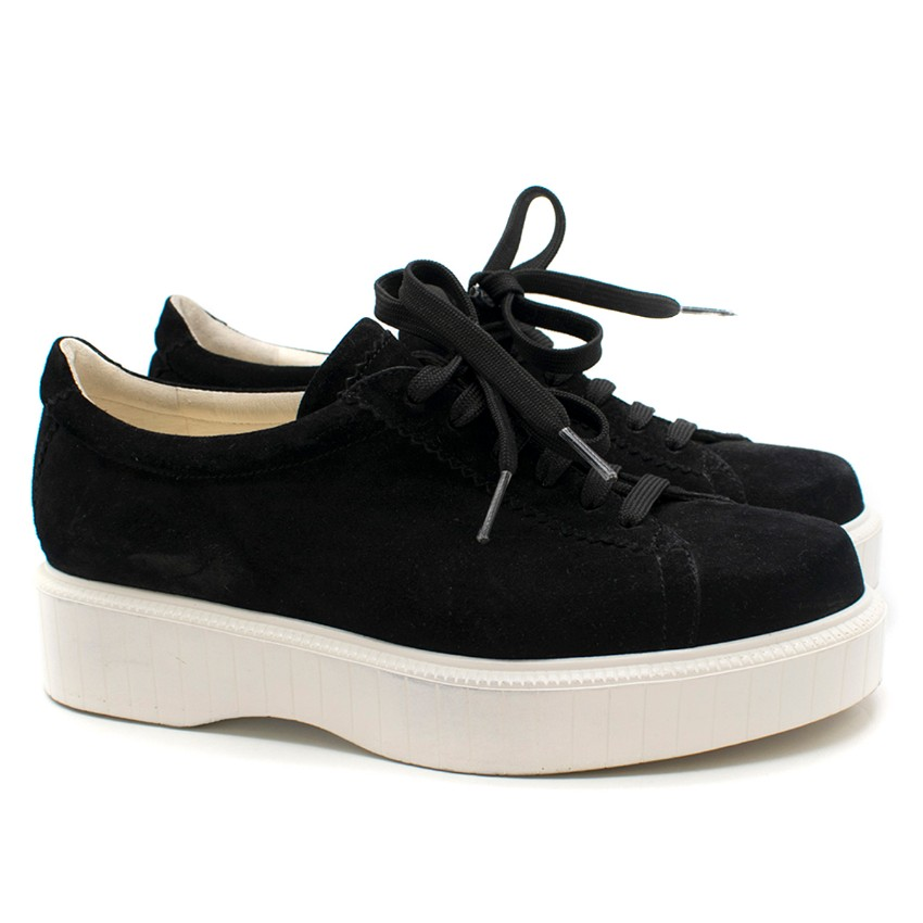 Robert Clergerie Paskettin Black Suede Trainers