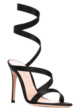 Gianvito Rossi Opera black leather sandals