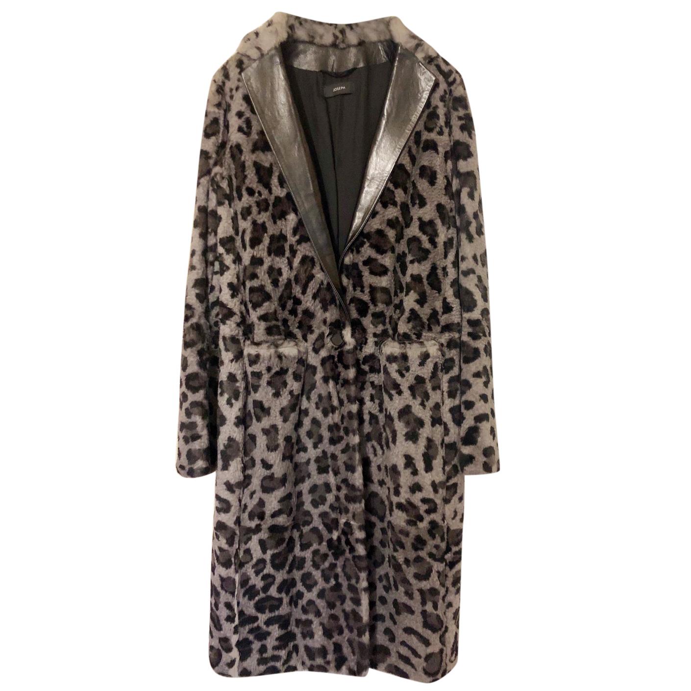Joseph rabbit fur leopard print coat