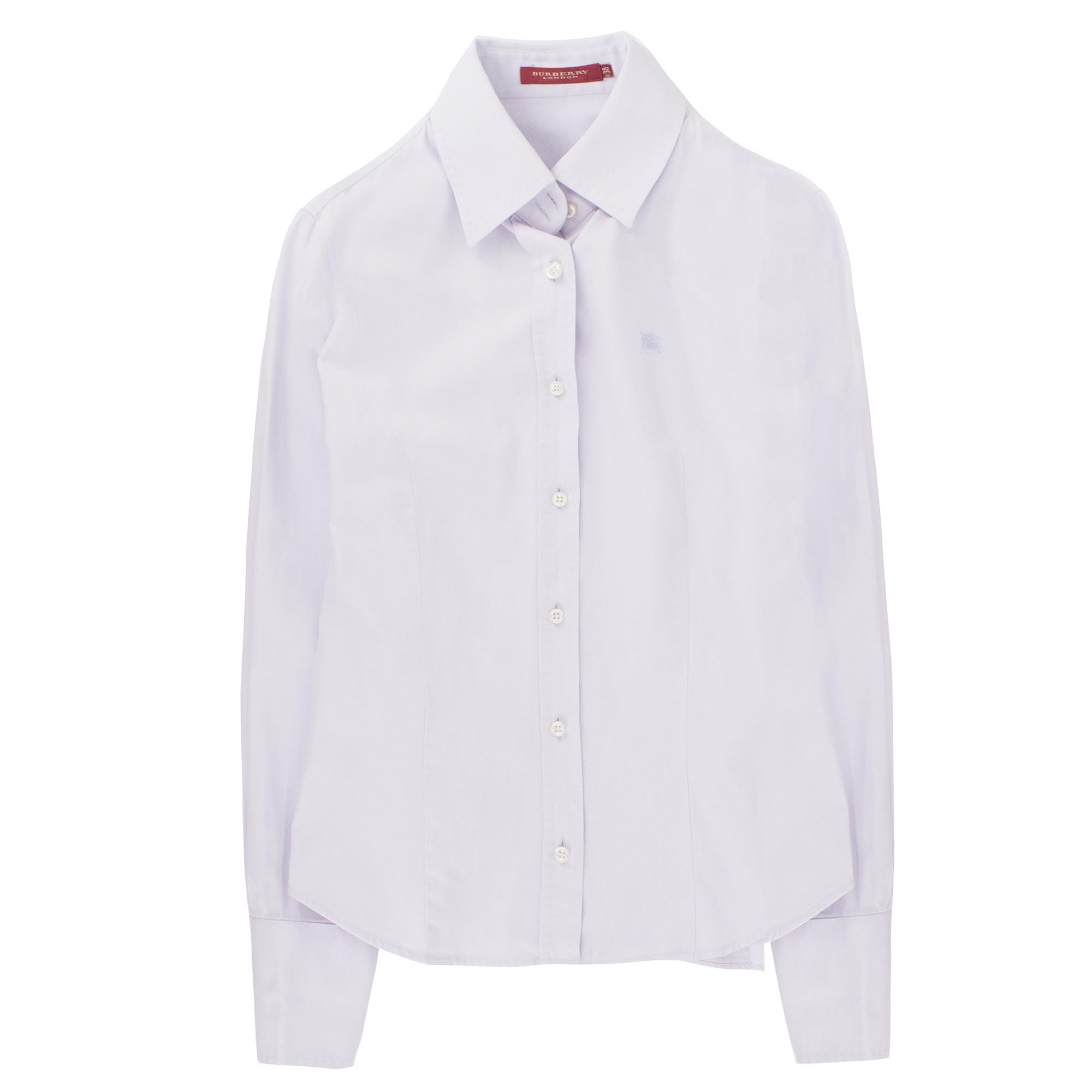 Burberry striped-weaved lilac tailored shirt