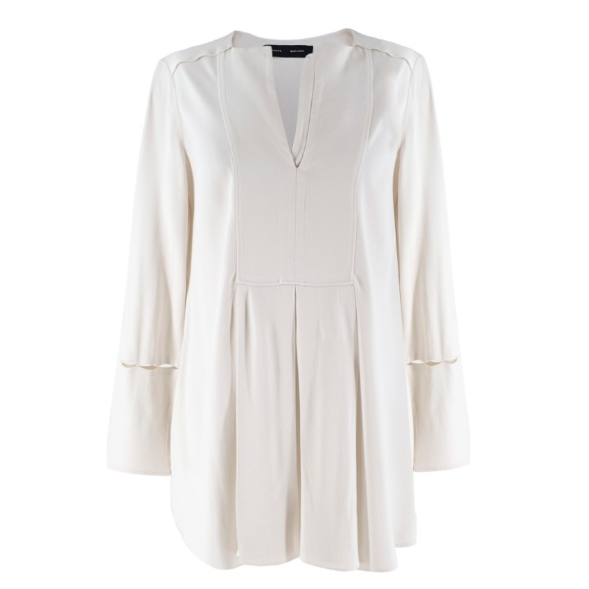 Proenza Schouler Ivory-Crepe Long-Sleeved Top