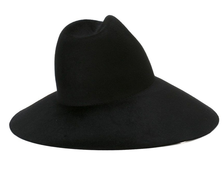 32660950289672 Gucci Asymmetric Black Widebrim Furfelt Hat