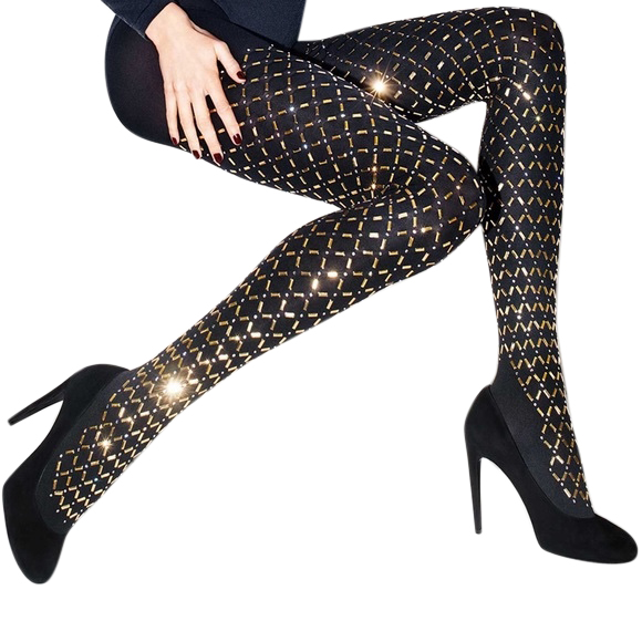 Wolford Exclusive Limited Edition Jewellery Swarovski Crystal Tights