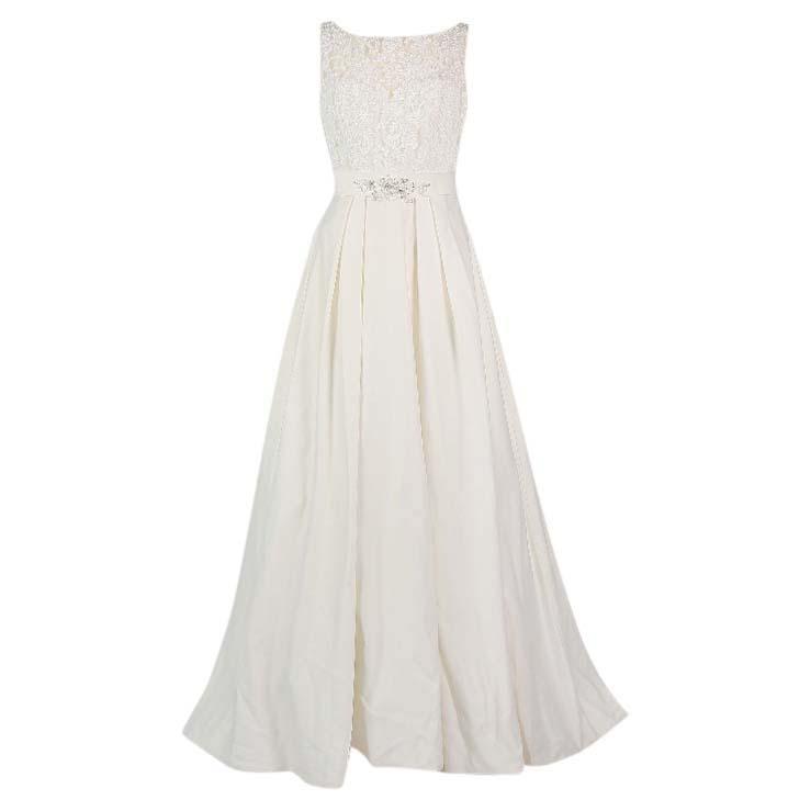 White Kelsey Rose Wedding Dress