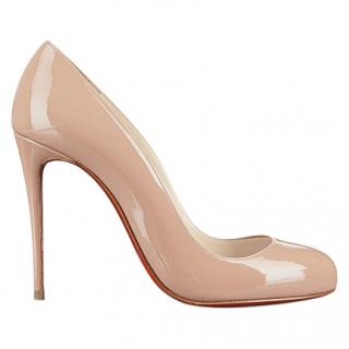 Christian Louboutin Dorissima 100mm nude patent leather pumps