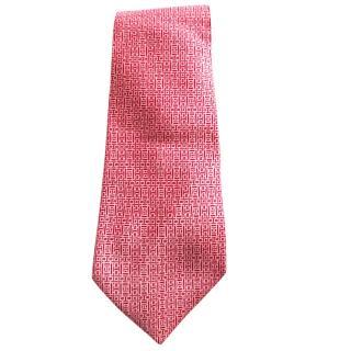Hermes graphic-print silk tie