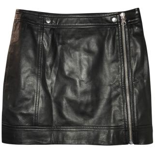 McQ by Alexander McQueen Mini Leather Biker Skirt