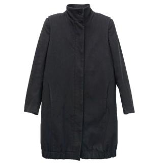 Helmut Lang Lightweight Stretch Wool-Blend Felt Long Coat