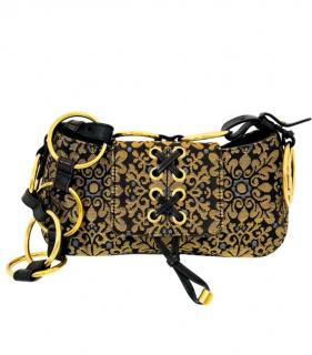 Yves Saint Laurent vintage tapestry shoulder bag