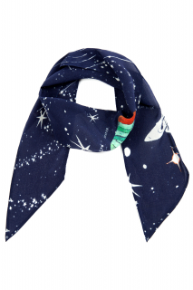 Rixo Alexa Cosmic Constellation silk scarf