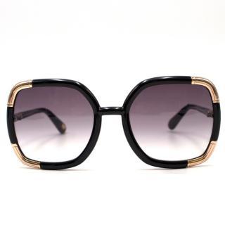 Diane Von Furstenberg Oversized Square-Frame Sunglasses
