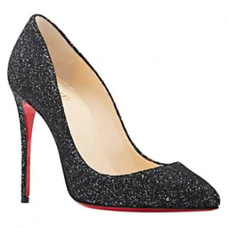 Christian Louboutin Pigalle 100mm Black-Glitter Pumps