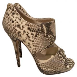 Jimmy Choo snakeskin sandals
