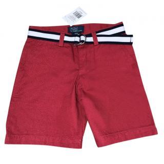 Ralph Lauren Polo Boys Red Shorts