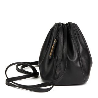 Chanel Black Lambskin Timeless Bucket Bag
