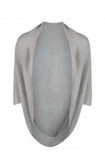 Belinda Robertson Uma Concrete-Grey Cashmere Shrug