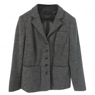 Escada wool-blend knit grey jacket