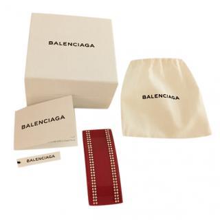 Balenciaga crystal-embellished clip-on ear cuff