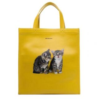 Balenciaga kitten-print market tote bag