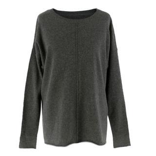 By Malene Birger Grey Merino Wool-blend Jumper