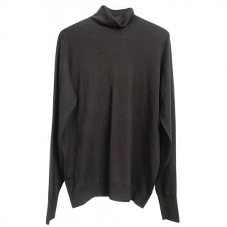 John Smedley roll-neck knit top
