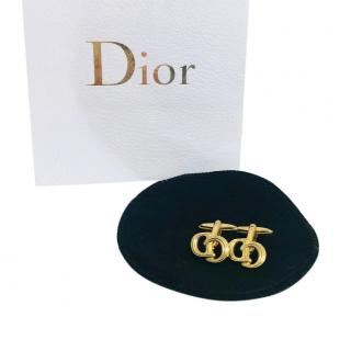 Christian Dior Gold-Plated Cufflinks