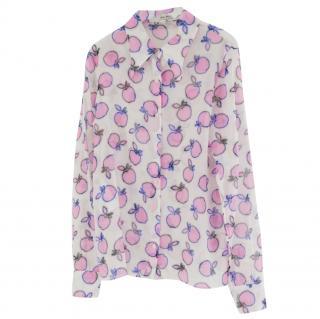 Miu Miu Resort Apple-Print Voile Shirt