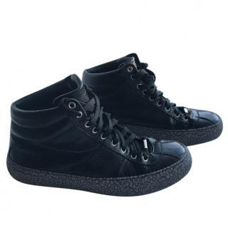 Jimmy Choo Belgravi Marble-Sole High-Top trainers