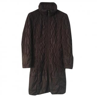 Luisa Cerano brown-quilted coat