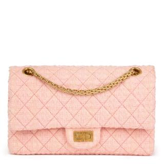 Chanel Pink Quilted-Tweed 2.55 Reissue Bag