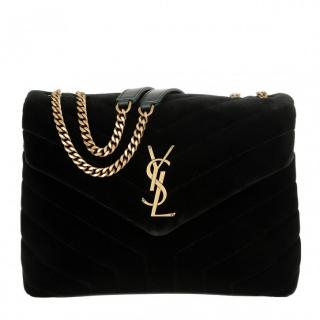 Saint Laurent 'LouLou' Velvet Bag